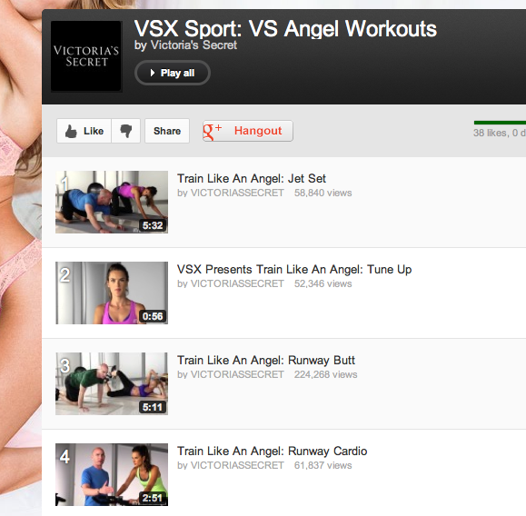VSX Sport: VS Angel Workouts