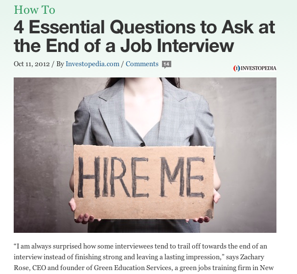 4 Essential Questions to Ask at the End of a Job Interview