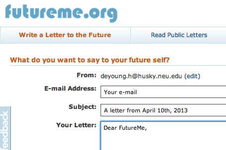 FutureMe.org // write a letter to your future self